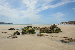 radiating (stevefge) Tags: bretagne brittany france pointededunant coast sky cloud beach sand sea reflectyourworld rocks