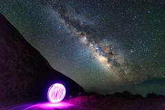 Schwarzenegger Under the Stars (AlexGlanville) Tags: purple milky way stars astronomy light painting bubble orb galaxy space whoa woah wow