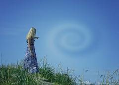 Vortexing (Keltron - Thanks for 10M Views!) Tags: caley beautifulgirl blonde vortex alaskansummer magic modeling bluesky bluedress