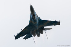 SU-27 Flanker, Ukrainian Air Force (Peter Starling) Tags: airtattoo fairford peterstarling riat totterdown overhead