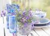 Blue White still. (BirgittaSjostedt) Tags: stilllife pot bottle flower bowl table outdoor bluewhite china summer sun birgittasjöstedt magicunicornverybest ie
