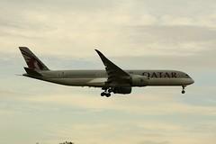 A7-ALA (IndiaEcho) Tags: a7ala qatar airways airbus a350 london heathrow egll lhr airport airfield civil aircraft aeroplane aviation airliner hounslow middlesex england canon eos 1000d