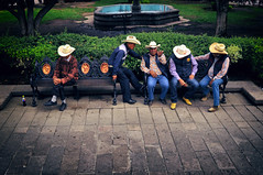 The Five Mexicans (CEGRO) Tags: street town people mexicans five nikon scene