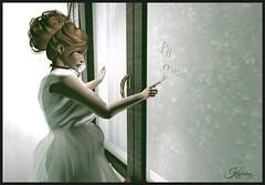 The Mourning Begins (Kaylahny) Tags: sl secondlife slstories goodbye leaving whitedress comharstudio slstorytelling