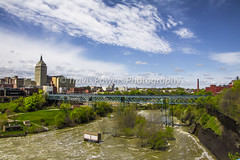 Daytime exterior photo of bridge spanning Genesee River in Rochester, New York (Travis Powers Photography) Tags: geneseeriver genesee river bridge rochesterny rochester westernny westernnewyork