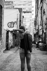 IMG_5721 (sarahribeiro3) Tags: streetphotography toronto grafittialley creative portrait blackandwhite alley art photosession woman empower