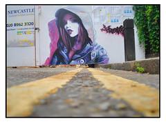 STREET ART by IRONY (StockCarPete) Tags: irony artistirony camdenart female women urbanart streetart londionstreetart london uk spraycanart aerosolart