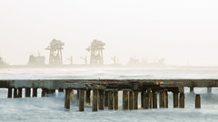 Piering (sakthi vinodhini) Tags: sea pier thalankuppam chennai india ennore power plant long exposure morning early sunrise ocean cwc599