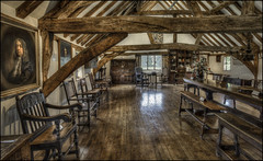Elstow Moot Hall (interior 3) (Darwinsgift) Tags: elstow moot hall bedfordshire village ancient architecture history john bunyan abbey nikkor 19mm f4 pc e tilt shift 17th century interior hdr photomatix nikon d810