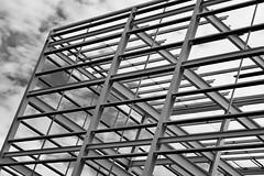 Day 196. Framework. (Rob Emes) Tags: building build construction lattice white bw black mono g7xii canon 3652017 365 jul2017