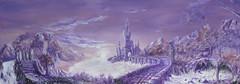 Purple Fantasy (RedRoofArt) Tags: painting purple fantasy castle runestones canvas acryl art
