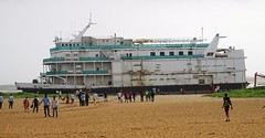Grounded Lucky 7 at Miramar beach, day 10 (JoeGoaUk) Tags: joegoauk goa miramar beach casino mvluckyseven