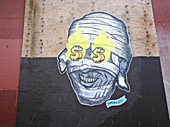 Gold Tooth (knightbefore_99) Tags: art tooth gold money street cool eastvan vancouver awesome dollar sign wall public bc artist wild more