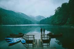 Biogradsko lake (szugic) Tags: biogradskojezero lake water rain boats peoaple forrest jungle trees fog mist biogradskolake nature