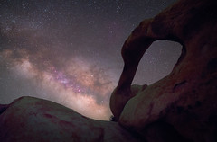 The Milky Way over Mobius Arch (jezhughesphotography) Tags: mobiusarch stardust universe nightphotography explore milkyway california astrophotography stars easternsierra nightsky lonepine space photography astro