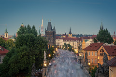 The human river (PixPep) Tags: prague charlesbridge cityclickers city longtimeexposure pixpep