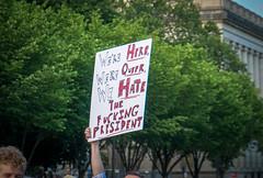 2017.07.26 Protest Trans Military Ban, White House, Washington DC USA 7621
