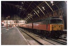 47703  St Pancras  11-02-95 (Gray Callaway) Tags: class47 47703 stpancras mail nightshot
