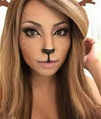 Deer Halloween Makeup (ineedhalloweenideas) Tags: ineedhalloweenideas deer pretty cute halloween makeup make up ideas for 2017 happy october 31 autumn fall spooky body paint art creepy scary pumpkin boo artist