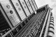 Steel Structure (handmiles) Tags: mono monochrome blackandwhite bw steel building architecture metal lloyds lloydsbuilding london city capital outdoor outside out sony sonya77mark2 sonya77m2 tamron tamron1024mm wideangle mileshandphotography2017