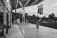 Leaving Well Enough Alone (brev99) Tags: d610 sigma2414 tulsa guthriegreen people stage cloudy sunset perfecteffects17 colorefex ononesoftware on1photoraw2017 dxofilmpack5 blackandwhite cityscape