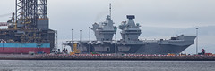 HMS Queen Elizabeth, RO8, IMO 4907892; Invergordon, Cromarty Firth, Scotland (Michael Leek Photography) Tags: royalnavy rn warship nato aircraftcarrier hmsqueenelizabeth invergordon cromartyfirth scotland scottishshipping r08 navalvessel carrier flagship f35 rnwarship michaelleek michaelleekphotography panoramic panorama