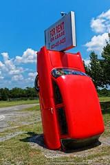 Red Chevy Stuck In The Ground (Paul's Captures (paul-mashburn.artistwebsites.com)) Tags: redcar 1964dodgedart redchevy stuckintheground hdr