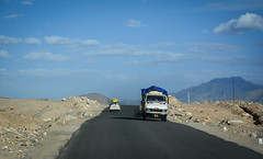 Mountain road in Ladakh, Northern India (phuong.sg@gmail.com) Tags: advice altitude asia attraction brown car destination drive famous field force high highway hill himalaya india indian jammu kashmir ladakh landform landmark landscape leh mountain mountaineering natural nature outdoor range ridge road rough rugged rules safe scene scenic sign slowly structure tibet traffic travel valley way wonder