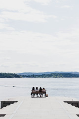 (Rasmus Ink) Tags: norway sea human person landscape view sky cloudy pier oslo city