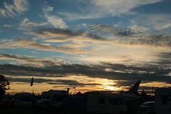 Fairford sunset. (aitch tee) Tags: friday14072017 settingsun royalinternationalairtattoo raffairford riat2017 evening sunset clouds skyline englanduk