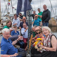 Celebrating on Chamois 2 (Matchman Devon) Tags: classic channel regatta 2017 hospitality chamois paimpol