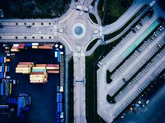 (miemo) Tags: dji mavic mavicpro abstract aerial cars containers drone europe finland harbor helsinki lanes parkinglot road roundabout traffic urban vuosaari warehouse helsingfors uusimaa fi