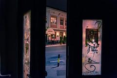 Open the door (Master Iksi) Tags: door city night urban exit nikond7100 sigma1750 light glass