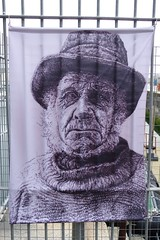 """The """"Old Fisherman"""" screen print at the Fisherman's Church at Ramsgate Harbour. A walk from Ramsgate to Broadstairs along the coast - archiving. (favmark1) Tags: walk kent 2017 365 365challenge day197 fisherman ramsgate ramsgateharbour ramsgatetobroadstairs screenprint coast"""