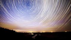 Orkney Lookout Star Trails (PhotoGizmo) Tags: orkneylookout startrails dinosaurtrail alberta badlands