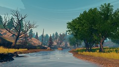 Life and Death (Nocha_Productions) Tags: firewatch fire water tree forest river sky screenshot gamingscreenshot pics pc pic picture photography gaming games game gallery gamingart gamingpicture cinematography