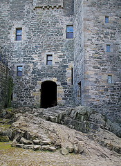 Castle Doorway (Rollingstone1) Tags: blacknesscastle blackness scotland castle fortress rock stone walls windows history historic prison medieval courtyard artdigital