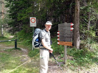 Me back at our start point near Schluderbach Carbonin