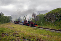 Hunslet, Alice Class 'Irish Mail' & Hunslet, Quarry Class 'Statfold' head up to the quarry, Threlkeld mining museum steam gala 29.07.2017 (alannaylor85) Tags: hunslet irish mail statfold threlkeld