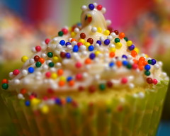 Mini Cupcake with sprinkles (AuntNett) Tags: food nikon d7200 sprinkles cupcake mini frosting sweet dailyphotoassignments treat macro