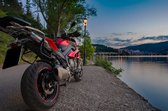 Blending with the landscape, Kastoria (KF-GR) Tags: nikon d750 nikkor nikkor20 nikkor20mmf18 bmw s1000xr motorrad motorcycle adventure city kastoria greece macedoniagreece fullframe lights shadows darkness longexposure nature reflections lake water nikond750 fx night cityscape ngc makedonia timeless macedonian macédoine mazedonien μακεδονια