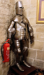 310 | duty firefighter – Langley Castle (Mark & Naomi Iliff) Tags: langley castle hotel suit armour fireextinguisher