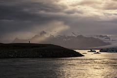 Beam me up, Scotty! (Andrew G Robertson) Tags: jokulsarlon iceland crepuscular ray lagoon glacier island arctic canon5dmkiv mkiv mk4 sunset sunrise