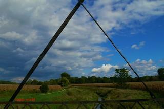 Landscape through triangular rust (Explore!)