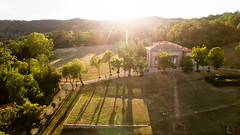 Villa Demidoff - Sunset (Jacopo Marcovaldi) Tags: sun sunset light shadow shadows mansion villa demidoff firenze florence toscana tuscany italia italy tree trees woods albero alberi foresta verde green backlight controluce dji phantom phantom3 advanced aerial aerea drone