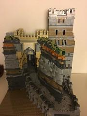 porte sheherezade (lord_tarris) Tags: muntabur lego architecture orient oriental mountain rock bedrock portal gateway tower lord tarris ramp attika palace