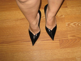 Casadei Black Patent Pumps