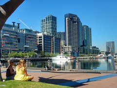 Docklands (sander_sloots) Tags: docklands melbourne australia skyline skyscrapers waterfront boats harbour buildings flats wolkenkrabbers haven flatgebouwen girls resting