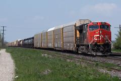 Where one Tier 4 Will Do (Joseph Bishop) Tags: cn cndundassubdivision paris parisjunction 3064 ge gevo tier4 et44ac trains train track tracks railfan railroad railway rail rails