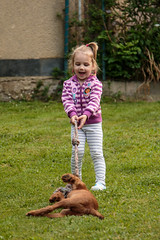 Get up! (Crones) Tags: canon 6d canoneos6d canonef24105mmf4lisusm 24105mmf4lisusm 24105mm czech czechrepublic niece family andrea people child outdoor animal dog lars